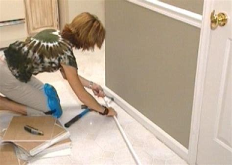 how to install peel and stick tile in bathroom how to install self stick floor tiles how tos diy