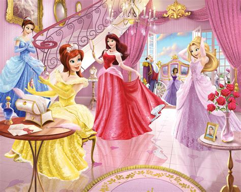 bedroom for princess beauty disney princess wallpaper for kids room on lovekidszone lovekidszone