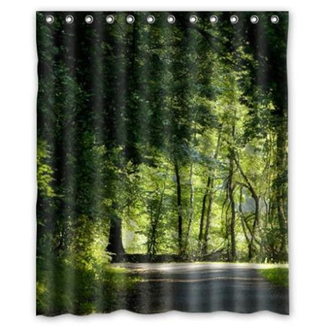 shower curtain forest shop popular forest green curtains from china aliexpress