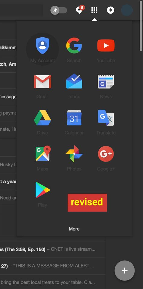 gmail dark themes google inbox by gmail dark theme updated april2017