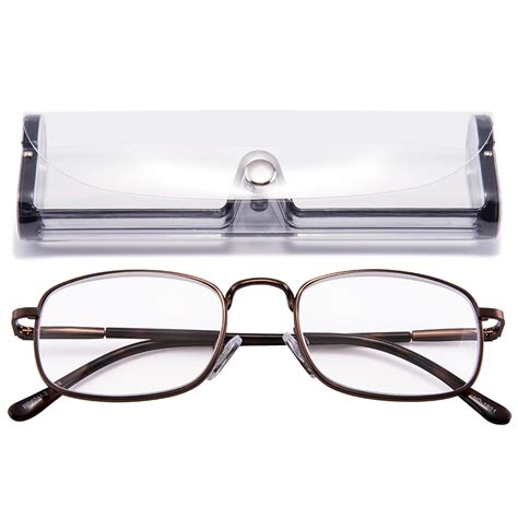 high magnification power reading glasses metal