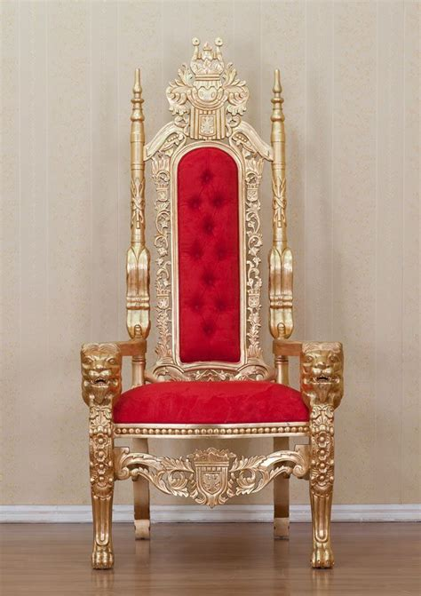 king furniture armchair gold lion king throne chair red upholstery thrones