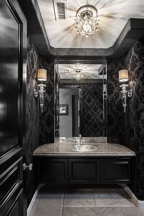 Powder Room Decor 20 Exquisite Bathrooms That Unleash The Of Black