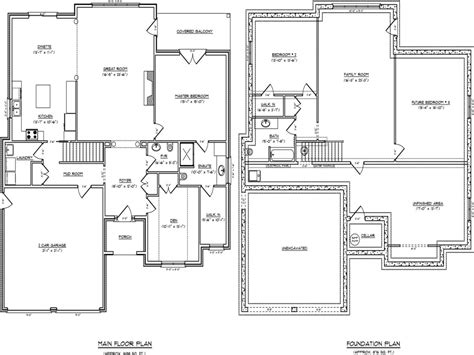 one floor house plans with basement concept art one story open concept floor plans single