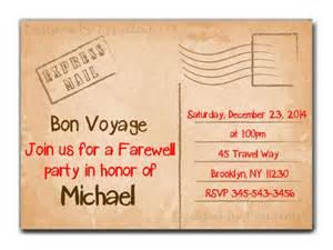 bon voyage invitation templates free travel farewell invitation bon voyage going away