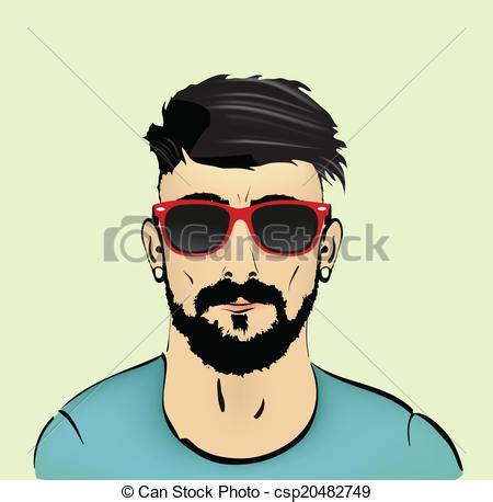 imagenes hipster para hombres eps vector de peinado bigote hipster barba bigote