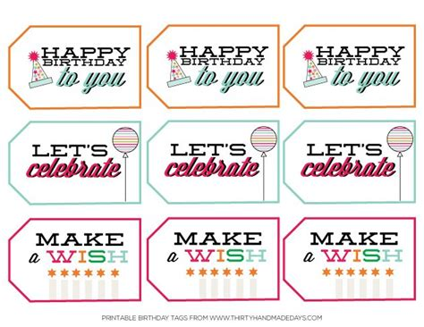 printable tags birthday free printable happy birthday tags and cards paper crush