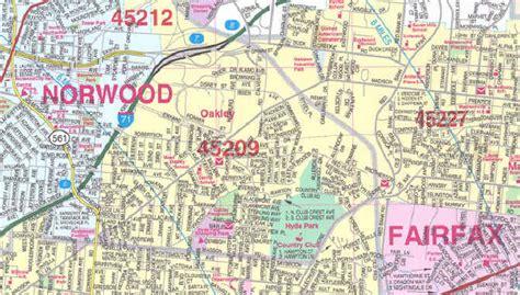 cincinnati zip code map map of cincinnati by zip code pictures to pin on pinsdaddy