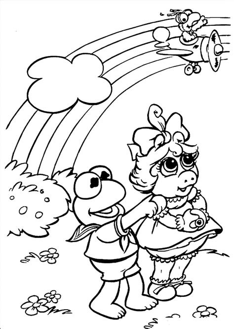 muppet babies coloring page free printable rainbow coloring pages for kids