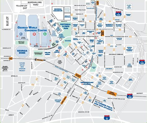 atlanta map in us downtown atlanta tourist map