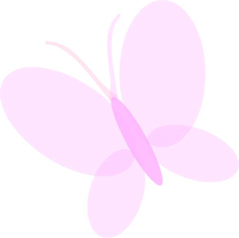 pink butterfly light pale pink butterfly clip at clker com vector clip