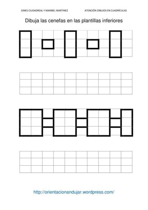 cenefas cuadricula fichas de atenci 243 n dibujamos en cuadr 237 culas cenefas