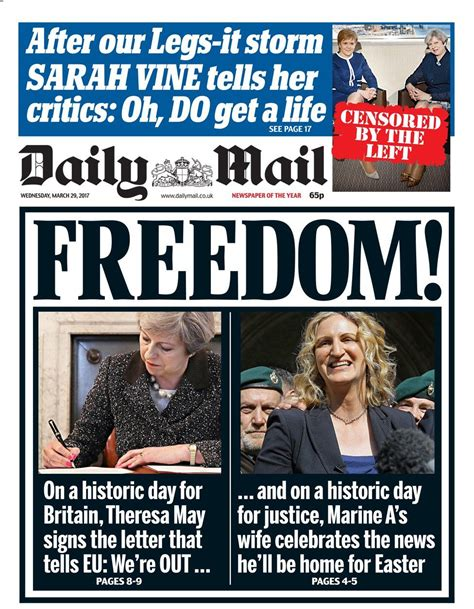 news latest headlines photos and videos daily mail online daily mail news paper front page wednesday 29th march