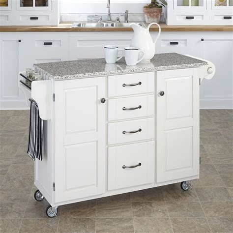 shop kitchen islands shop home styles white scandinavian kitchen cart at lowes