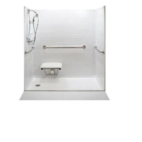 Walk In Showers At Lowes by Shop American Walk In Tubs 60 Quot L X 32 Quot W White Shower Floor