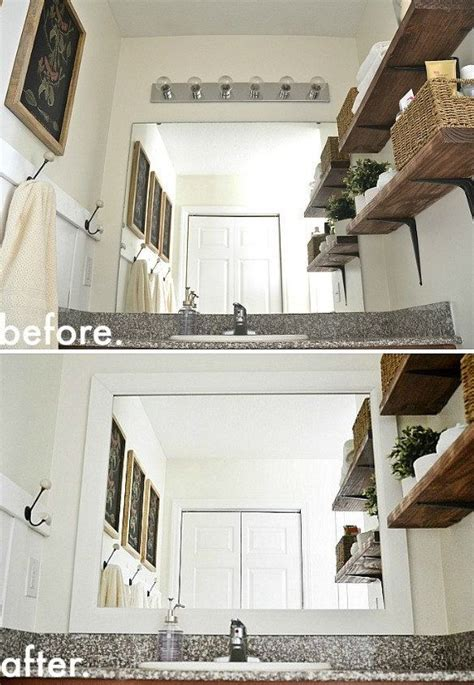 How To Frame Your Bathroom Mirror 24 Easy And Inexpensive Ways To Upgrade Your Bathroom