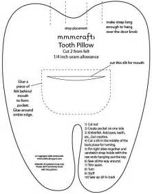tooth pillow pattern tooth fairly pillows
