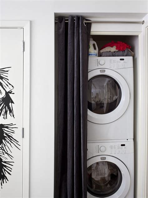Washer Dryer Closet by Lifestyle S Spatially Challenged Loft Design Tips