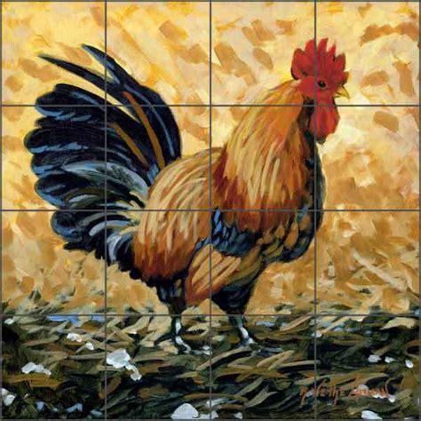 Ceramic Tile Murals For Kitchen Backsplash kitchen tile mural backsplash ceramic altman rooster art
