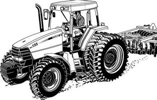 realistic tractor coloring pages printable coloringstar