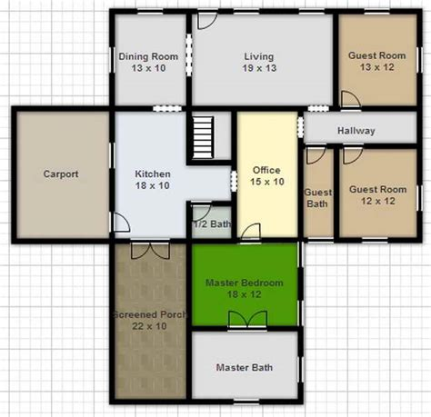 Free Floorplans by Draw Floor Plan Online Free Architecture Unique House