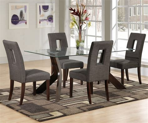 Glass Top Dining Table And Chairs Contemporary Dining Room With Furniture Contemporary Area Rugs And Rectangular Glass Top