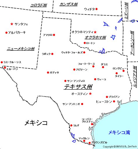 texas state map in usa テキサス州の画像 原寸画像検索