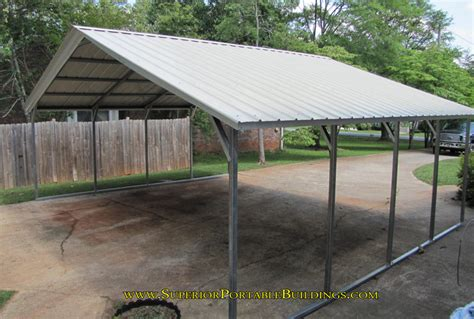 4 Car Metal Carport Vertical Roof Steel Carport Vc 4