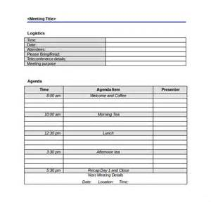 meeting agenda template free meeting agenda template 46 free word pdf documents