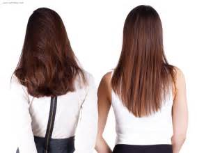 shape hair cut the back of long hair in a u shape v shape or a