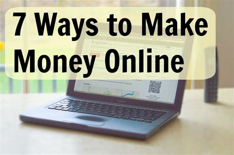 Make Money More Online Working - 7 ways to make money online young adult money