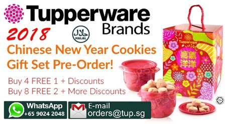 new year gifts 2018 singapore 2018 new year cookies gift set by tupperware