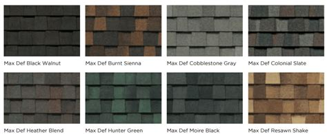 Pro Curb Appeal - timberline vs landmark shingles compare colors and styles