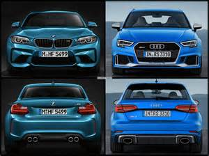 photo comparison bmw m2 vs audi rs3 sportback facelift