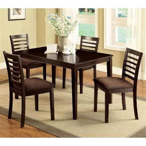 Espresso Dining Table And Chairs Venetian Worldwide Eaton I 5 Espresso Dining Set Cm3001t 5pk The Home Depot