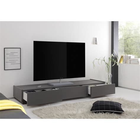 meuble tele conforama 1199 livia grey matt lacquered tv lowboard with drawers tv