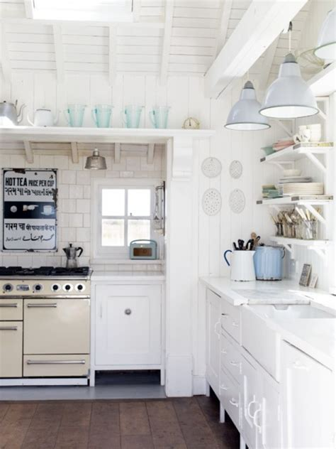 beach house kitchen cabinets coastal style vintage english beach charm