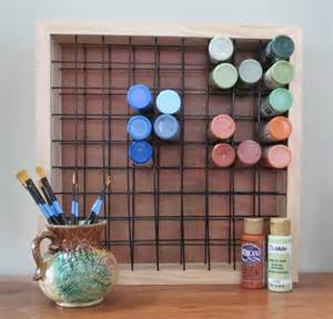 paint storage rack holds 81 2oz craft paint bottles paint rack