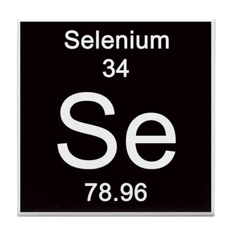 Selenium Periodic Table by Periodic Table Selenium Tile Coaster By Science Lady
