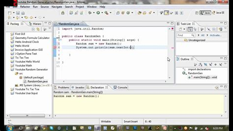 java tutorial random java tutorial 8 random number generator youtube