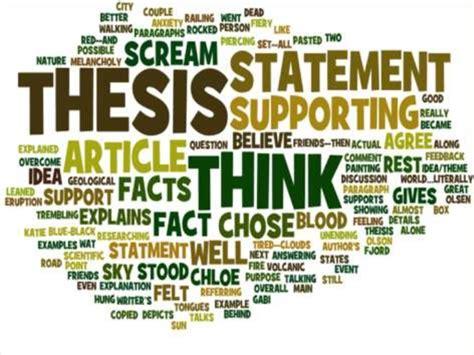 thesis de education thesis statement