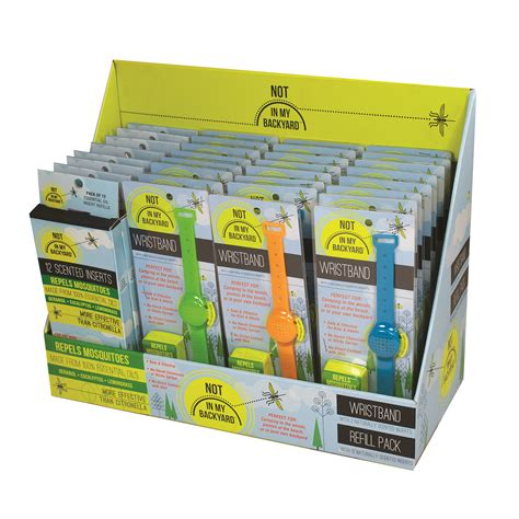 the backyard pack nb0108 silicone wristbands and refill pack shelf display