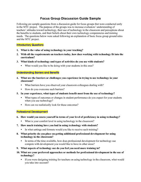 focus discussion report template best photos of sle guide template tell me