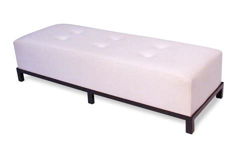 white tufted bench avery tufted 6 bench white lux lounge efr 888 247 4411