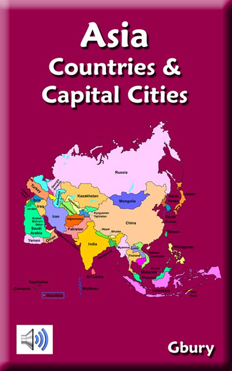 map of asia with country name and capital asia countries and capitals android apps on play