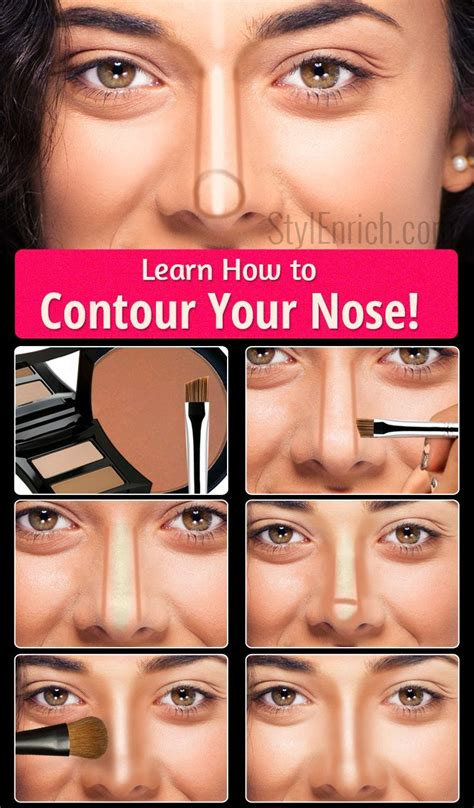 how my learn how to contour your nose step by step guide