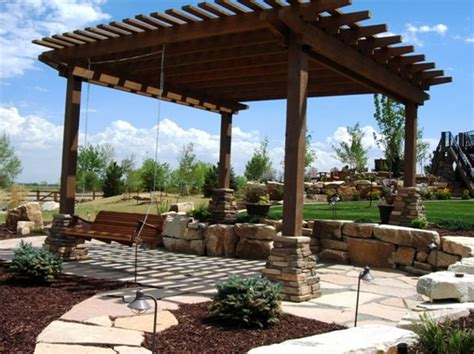 backyard covered pergola pergola and patio cover fort collins co photo gallery landscaping network