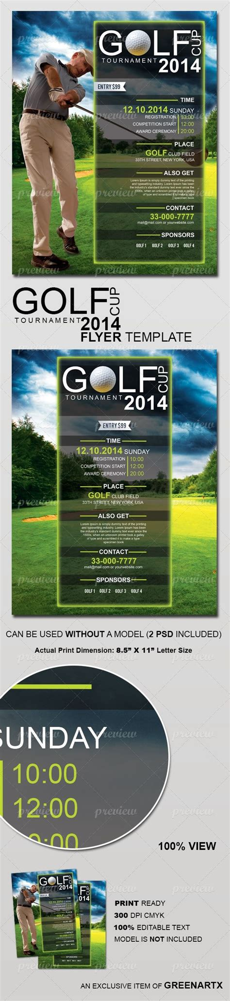 flyer design inspiration pinterest golf cup tournament flyer template print pinterest