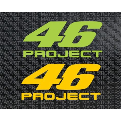 Quality Sticker Helm 46 Project Valentino project 46 valentino logo stickers for bikes