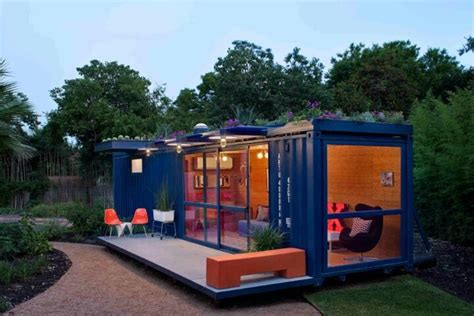 shipping container in garden shipping container turned house studio outdoors garden